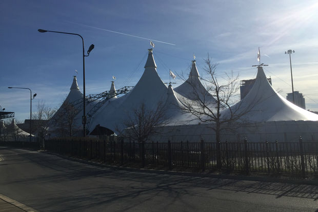 An epic show mixing majestic horses, dancersand a small city's worthof props is coming to a Big Top next to Soldier Field.