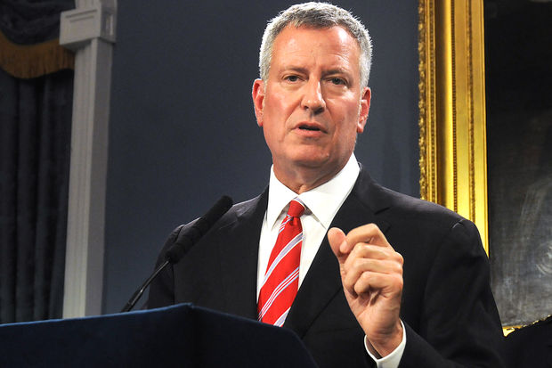A Manhattan judge ruled that Mayor Bill de Blasio's office had to release emails with so-called