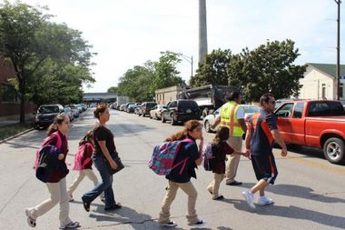 Parents at Hitch Elementary School, 5625 N. McVicker Ave., have long sought traffic safety improvements for students crossing the busy intersection of Bryn Mawr and Austin avenues.