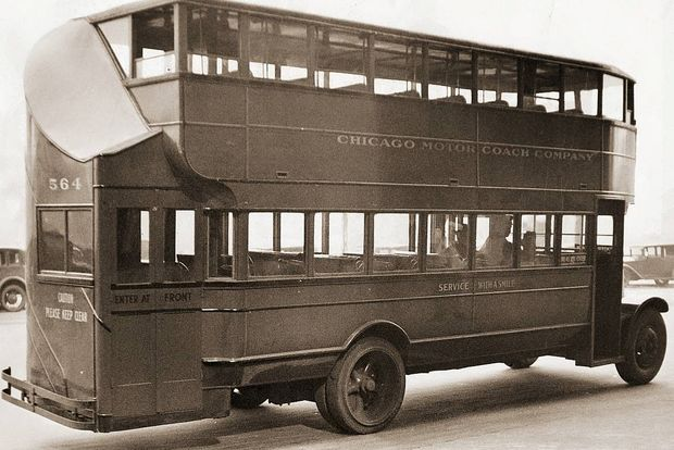 An old model from the Chicago Motor Bus Company