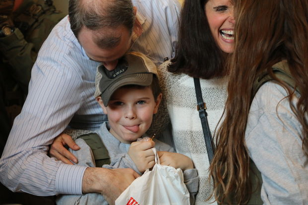 The Make-A-Wish Foundation surprised Sam Allen, 8, and his family with a big visit to FBI Chicago.