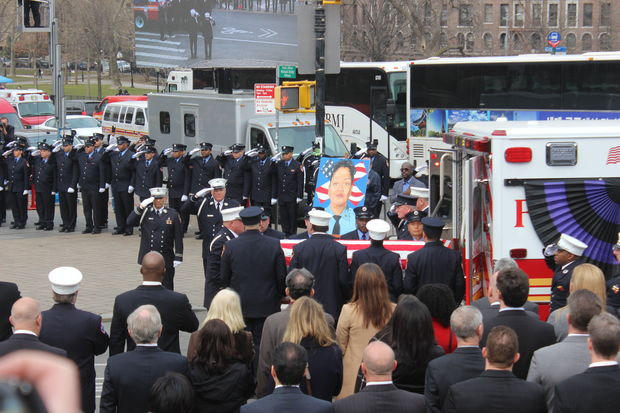 The funeral for slain EMT Yadira Arroyo took place on Saturday at St. Nicholas of Tolentine Church.