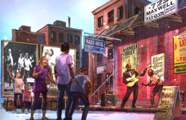 Renderings of the Chicago Blues Experience, a Chicago blues museum expected to open Downtown in 2019.