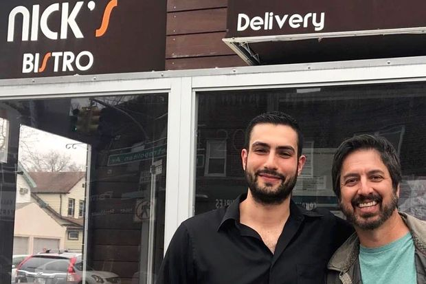 Ray Romano dined Sunday at Nick's Bistro in Forest Hills.