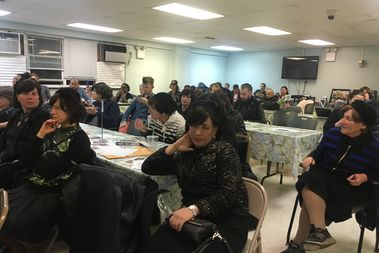 A group of women, most of them from the neighborhood's Orthodox Jewish community, turned out a recent community board meeting to call for more hours at the Metropolitan Recreation Center.