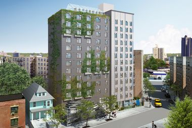 A rendering of Project Renewal's Bedford Green House, which will have 208 units of affordable and supportive housing.