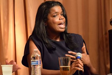 Cook County State's Attorney Kim Foxx discusses the impact of President Donald Trump's immigration orders at The Girl Talk Wednesday night.