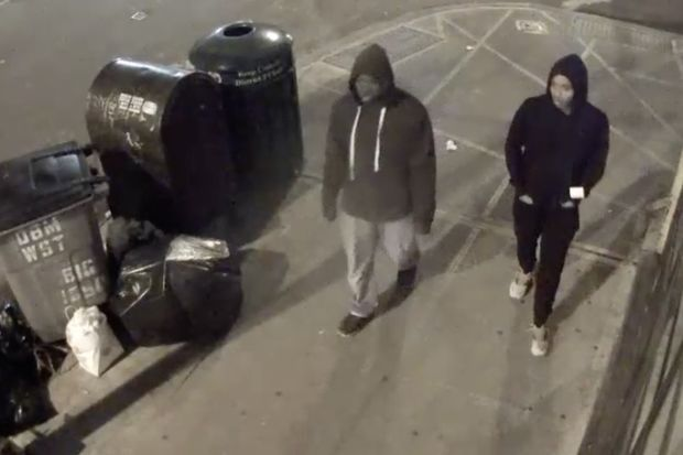 Police are looking for these two suspects who say they beat up and robbed a 70-year-old man over the weekend.