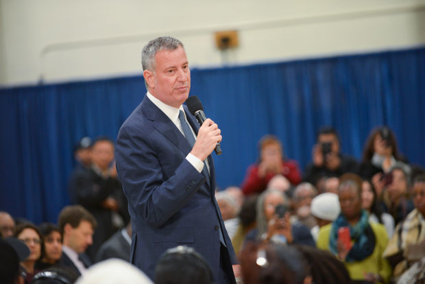 Mayor Bill de Blasio announced work on 111th Street should begin this summer.