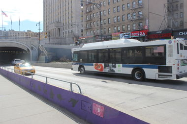 Officials plan to make the lane of the tunnel on E. 161st Street heading toward Hunts Point for Bx6 buses only in an attempt to alleviate traffic problems.