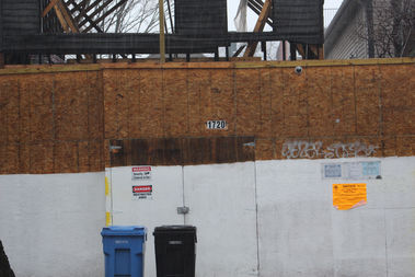 The city recently slapped a stop-work order on the building for exceeding work allowed in a permit  to fix the foundation.