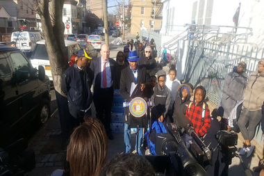 Councilman Andy King held a press conference at P.S. 41 in January about elevated lead levels that had been found at the school but said on Friday that they had been reduced to safe levels.