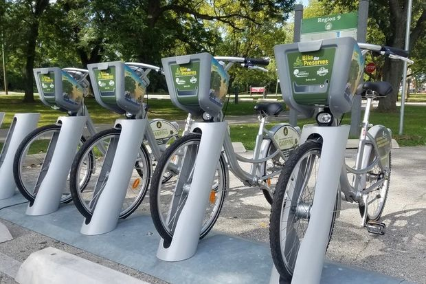 Rental bikes are now available at Beverly's Dan Ryan Woods and the North Branch Bike Trail in Forest Glen. The rental stations will remain open through Oct. 31, according to officials with the Forest Preserves of Cook County.