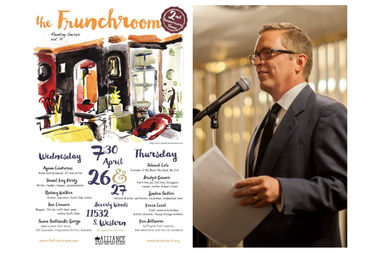 Scott Smith is the producer and emcee of The Frunchroom in Morgan Park. The quarterly reading series will celebrate its second anniversary with a two-night event tonight and Thursday at the Beverly Woods Restaurant in Morgan Park.