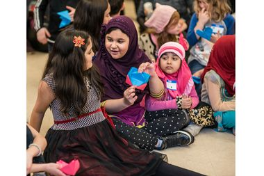 Muslim and Christian children from local East Village religious centers got together for an interfaith playdate at Middle Collegiate Church.