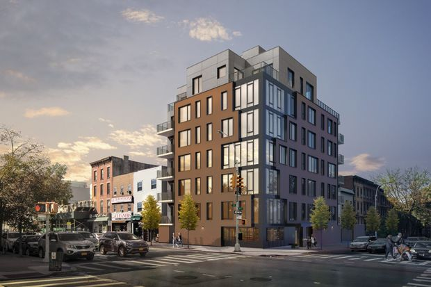 A rendering of 236 17th St., a new condo building called
