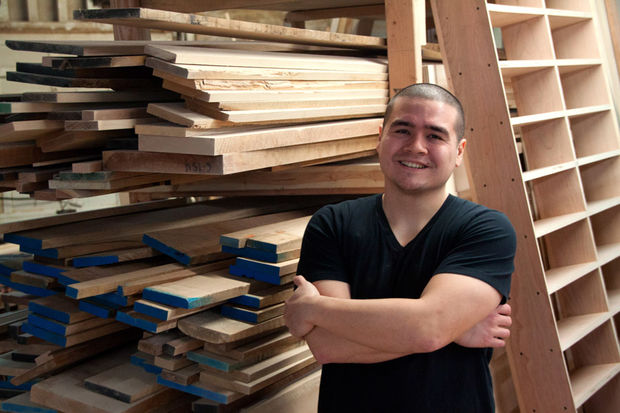 Sam Devenport is following in the footsteps of his father, Arthur, and is starting his own furniture company.