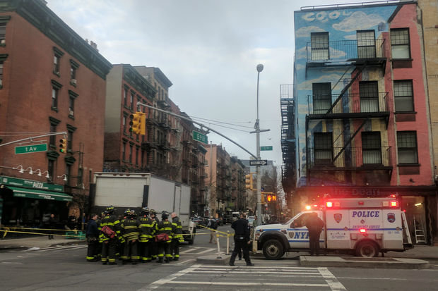 The person was hit at First Avenue and East Ninth Street, officials said.