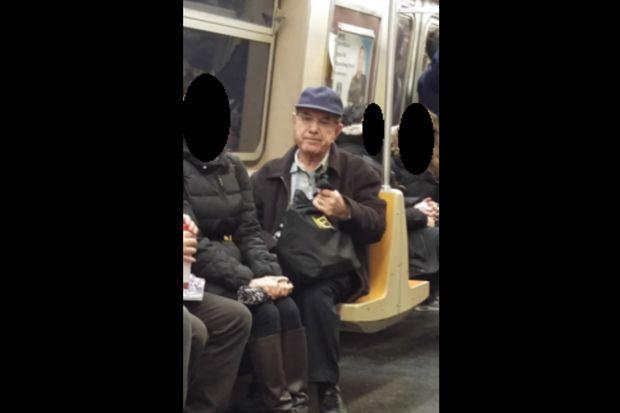 police seek man who fondled himself on r train