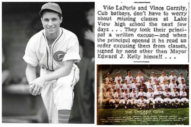 Vito LaPorta was a Cubs bat boy during the 1938 World Series and got a note from then-Mayor Edward Kelly excusing him from Lake View High School classes on game days.