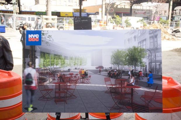 A rendering of the future of Corona Plaza.