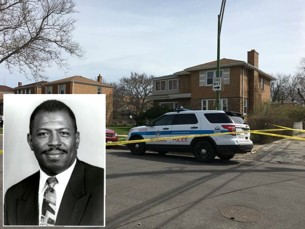 The scene at 9443 S. Forest Ave., where Cook County Associate Judge Raymond Myles was fatally shot behind his home.