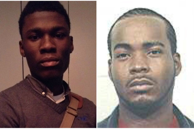 Terrance Smith, right, fatally struck Michael Joefield, left, in Brownsville Saturday night, police said.