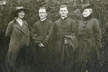 William and Joe Ward (center) are seen here with family members in 1917 as the United States was entering World War I.