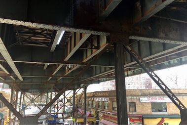 Peeling paint from the 7 train is filled with lead, a new report found.