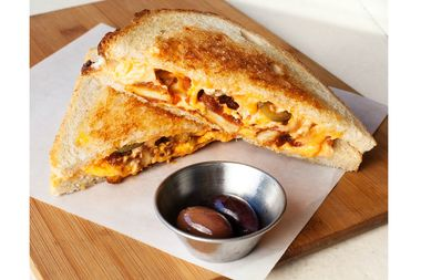 The Cheese Grille's Buffalo Chicken Grilled Cheese came out on top of UberEats' ranking.