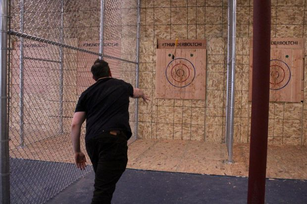 The city's second recreational axe-throwing range opens April 19 at 4842 W. Irving Park Road.
