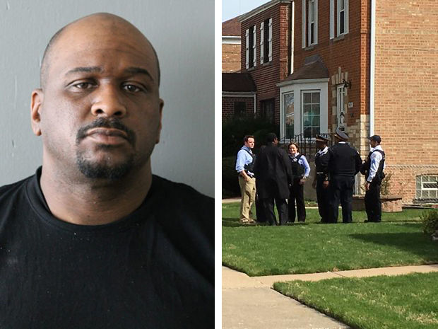 Police have charged 37-year-old Joshua Smith (inset) in connection with the slaying of Cook County Judge Raymond Myles behind the judge's Roseland home early Monday.