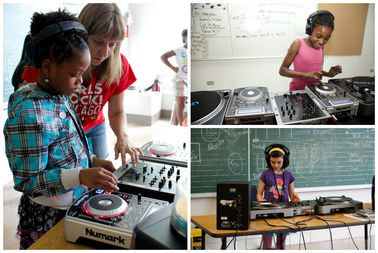 Scenes from previous Girls Rock! camps.