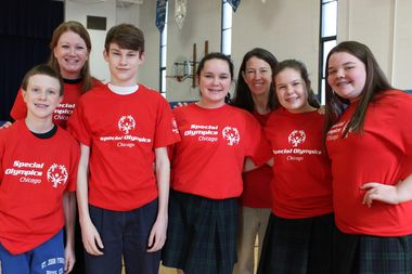 From left, Joseph Hladik, Kerry Ryan Lynch, Gabe Daggy, Ella Dowling, Maureen O'Malley, Ellen Guinane and Keelin O'Mahoney are all participating in Kids Helping Kids Day.