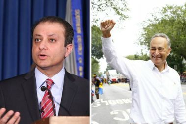 Former U.S. Attorney Preet Bharara and Sen. Chuck Schumer are being probed by the Turkish government for terror ties, according to a news report.