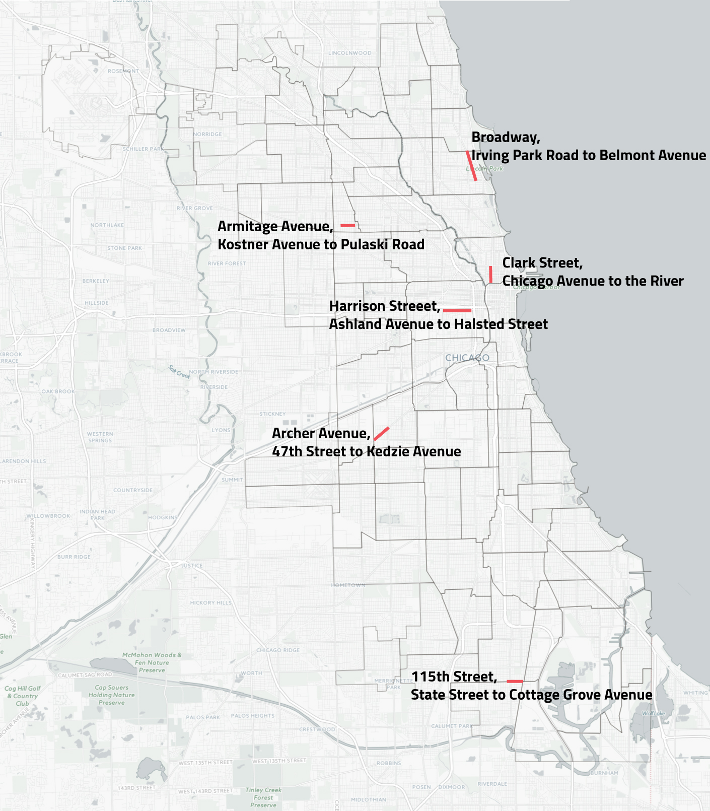 Annual Battle Against Potholes Begins In Earnest MAP South - Chicago map river