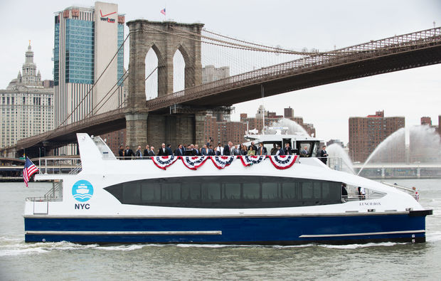 "The ""Lunch Box"" is one of the ferry service's new boats, named by students in Brooklyn."
