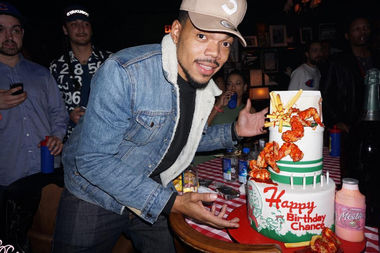 Chance the Rapper's birthday cake was an ode to Harold's Chicken, one of his favorite restaurants.