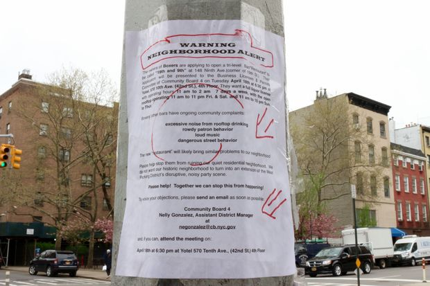 A flier posted near the proposed 19th and 9th space opposing its liquor license application.