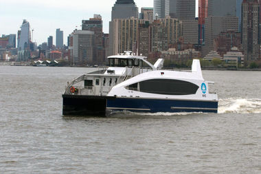 The plan includes the construction of a concrete pier in Clason Point for the South Bronx ferry service.
