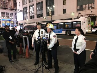 FDNY officials addressed reporters at the scene Friday evening.