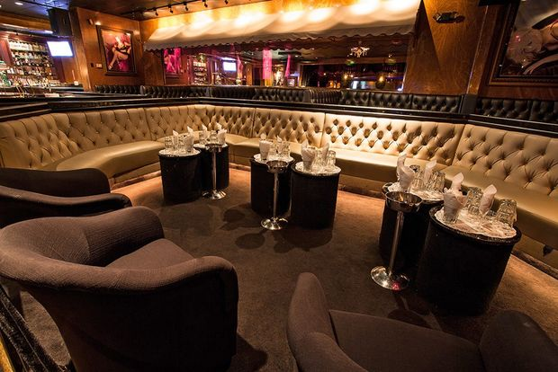 A view inside Spearmint Rhino's Las Vegas club.