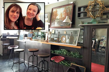Project Life Center founders Sarah Rabenou and Zsuzsi Tass; the center's cafe space.