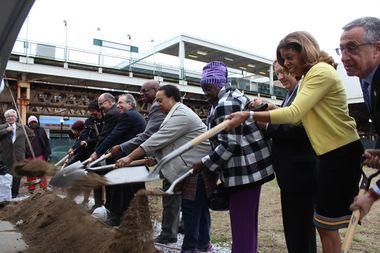 Preservation of Affordable Housing broke ground on Woodlawn Station on Wednesday.