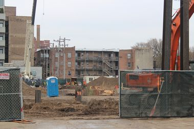 The hospital building has been demolished at the site of 811 Uptown.