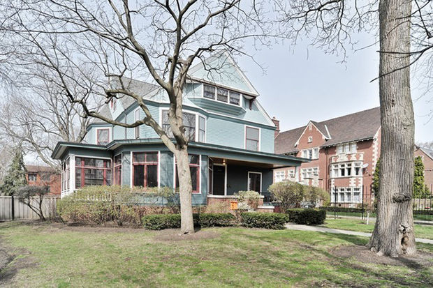 The Kenwood mansion at 4950 S. Woodlawn Ave. has gone on the market for $2.59 million.