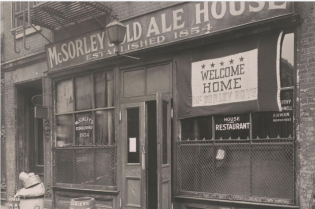 "McSorley's Old Ale House on East Seventh Street, as seen in ""A City Seen: Todd Webb's Postwar New York, 145-1960."
