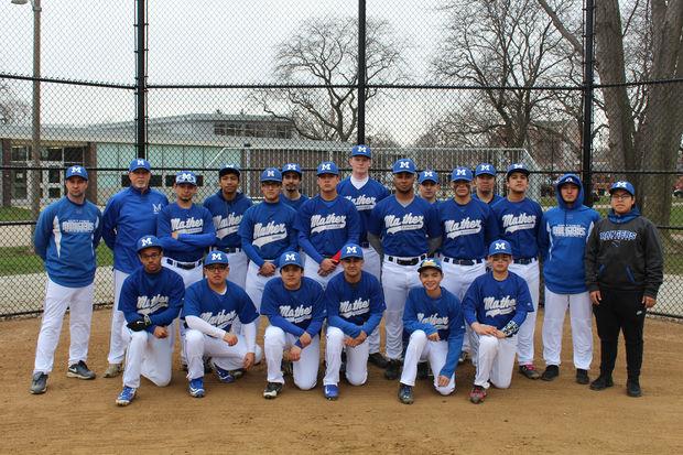 The Mather High School baseball team