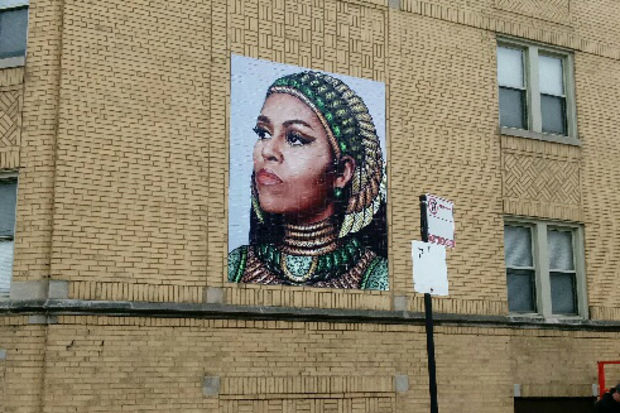 Michelle Obama An Egyptian Queen In New South Side Mural