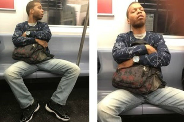Police say this man touched himself in front of a 5 train straphanger on April 18.